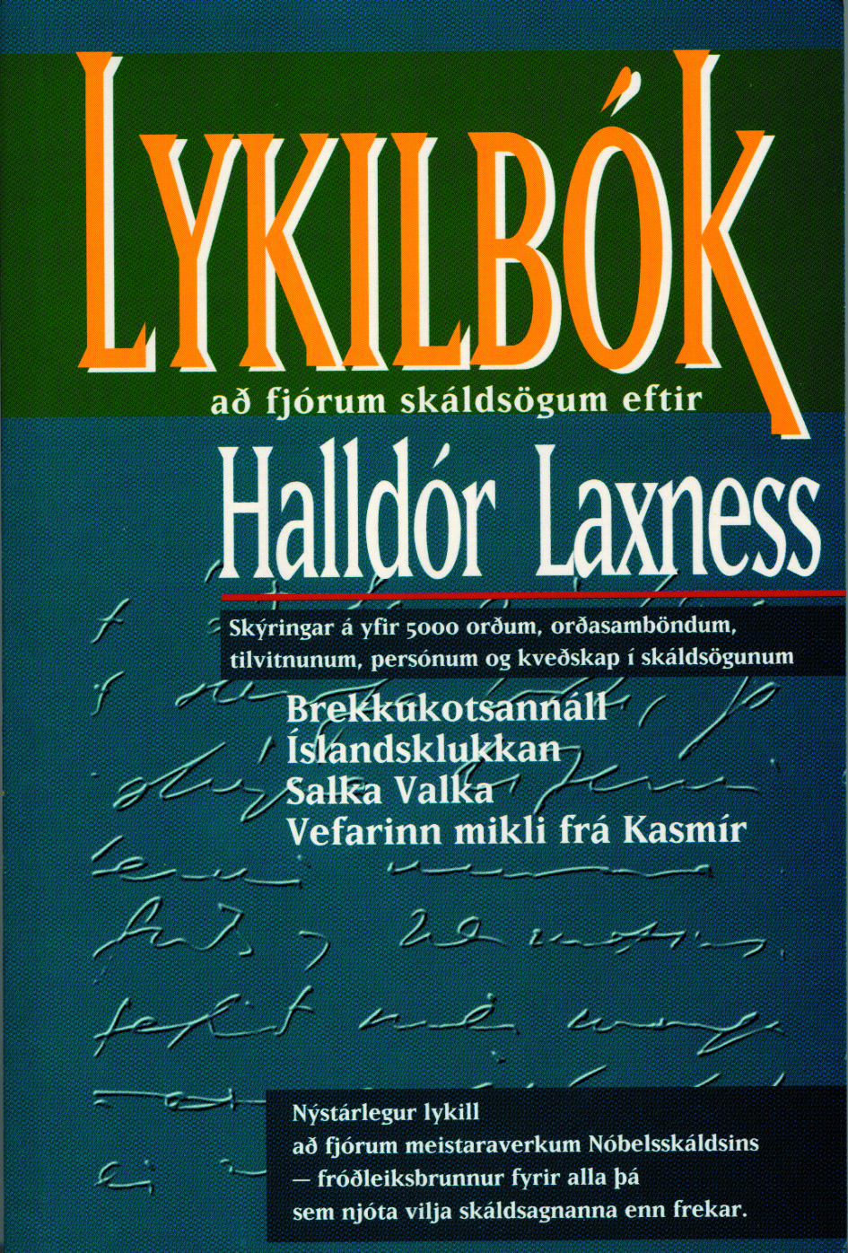 Lykilbók að fjórum skáldsögum eftir Halldór Laxness