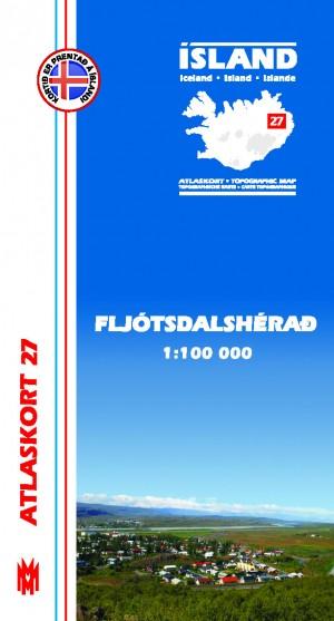 Atlaskort 27 Fljótsdalshérað