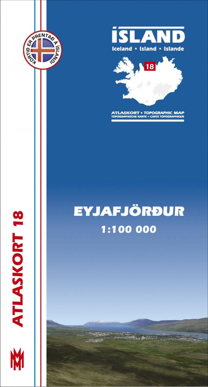 Atlaskort 18 - Eyjafjörður