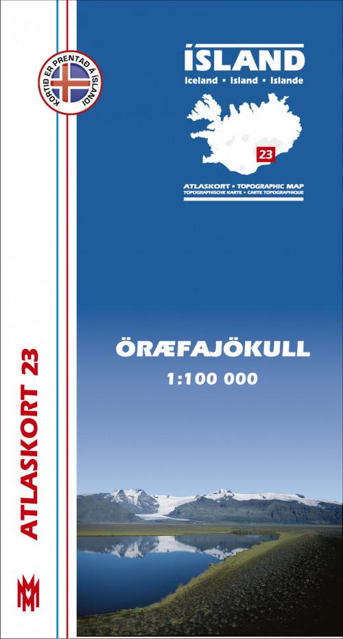 Atlaskort 23 - Öræfajökull