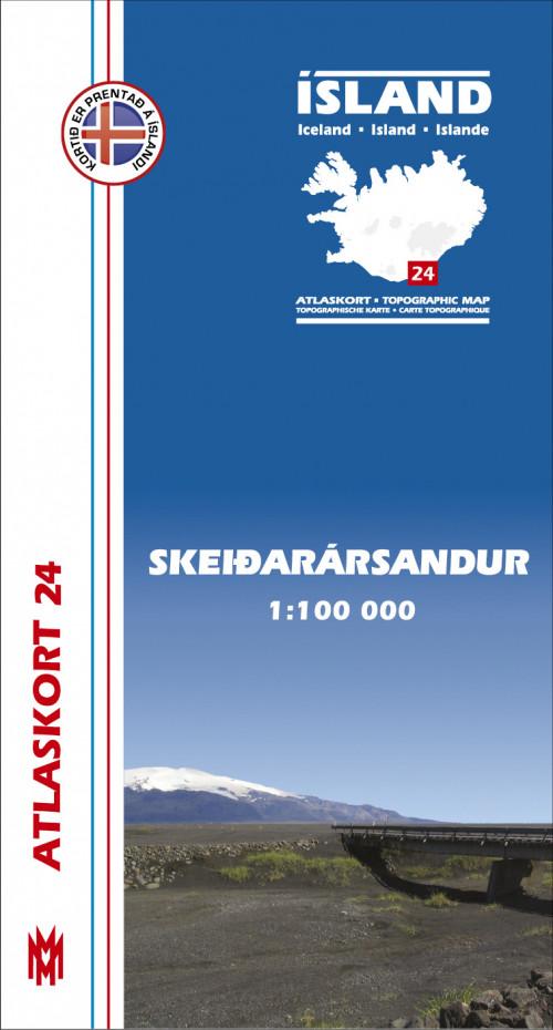Atlaskort 24 - Skeiðarársandur