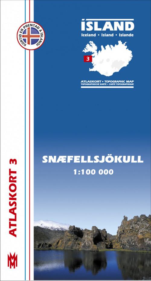 Atlaskort 3 - Snæfellsjökull