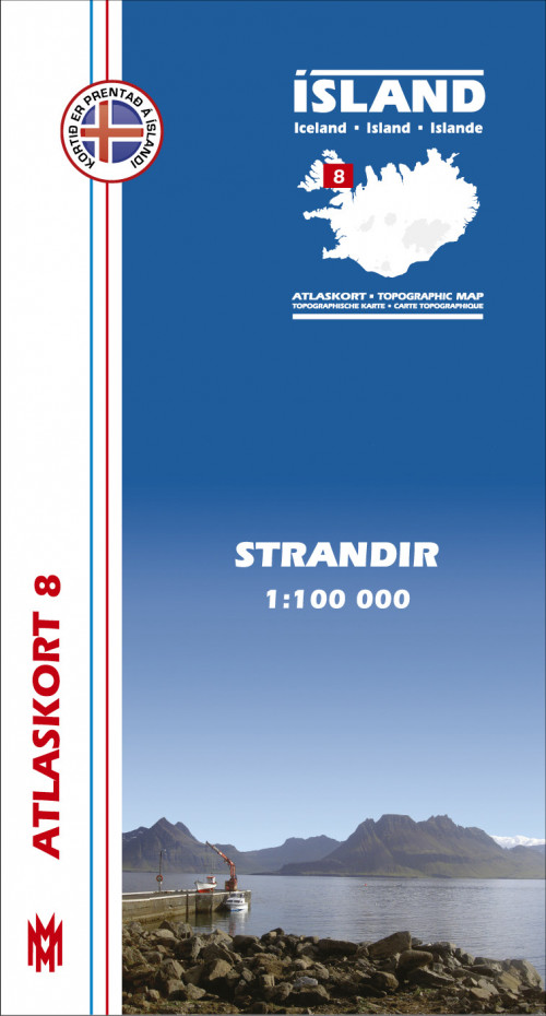 Atlaskort 8 - Strandir