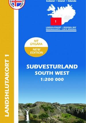 Suðvesturland 1 Landshlutakort