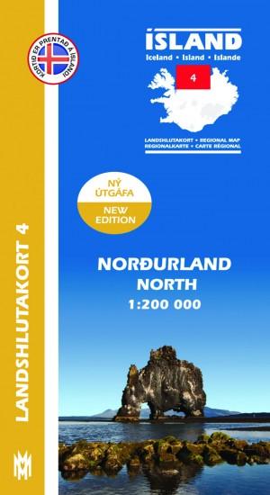 Landshlutakort 4 - Norðurland