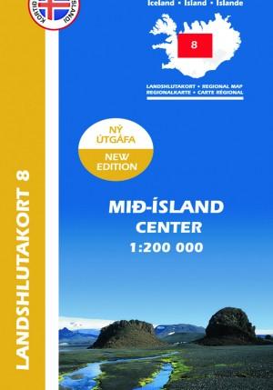 Landshlutakort 8 - Mið-Ísland