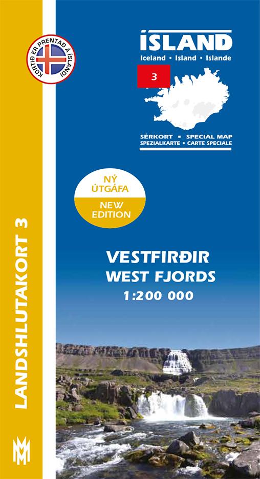 Landshlutakort 3 - Vestfirðir