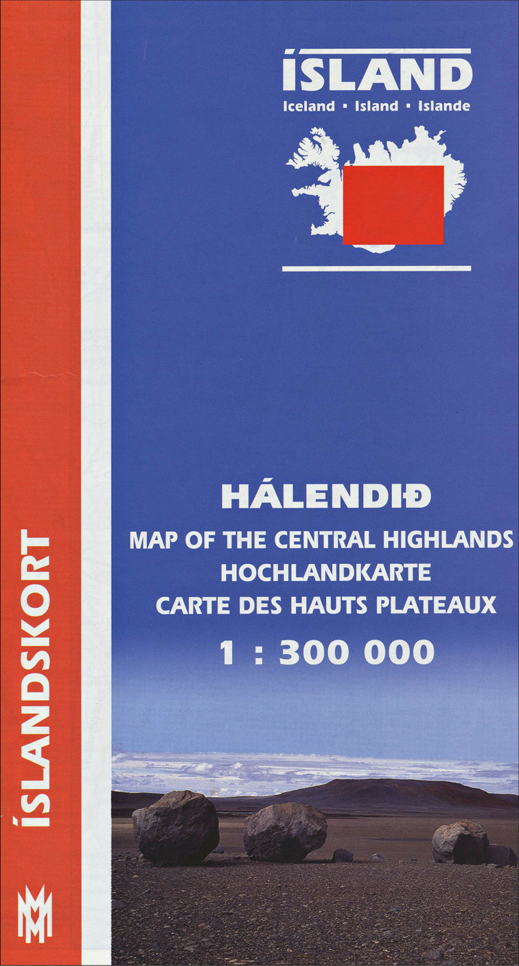 Hálendið 1:300 000 - Fjórðungskort