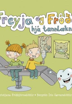 Freyja og Fróði hjá tannlækni
