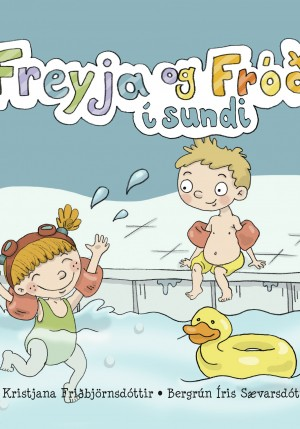 Freyja og Fróði fara í sund