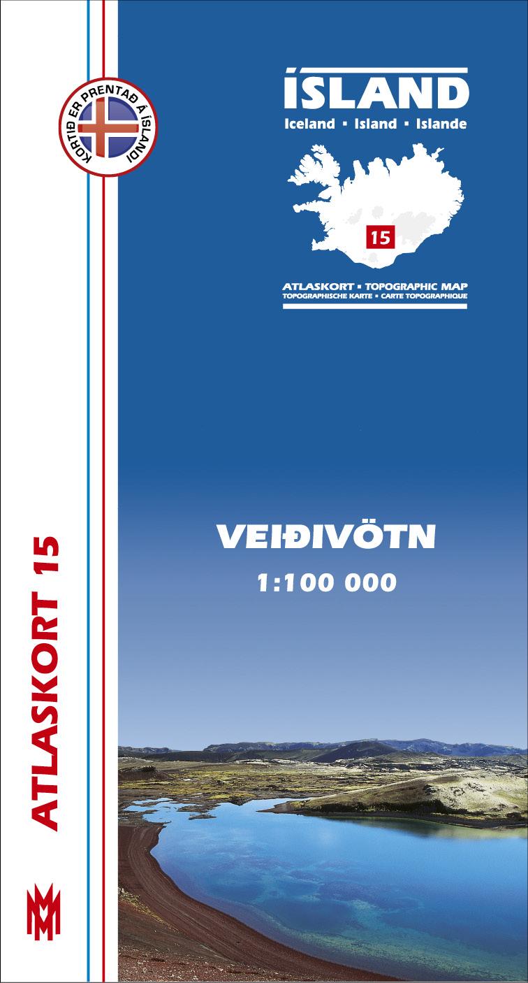 Atlaskort 15 - Veiðivatn