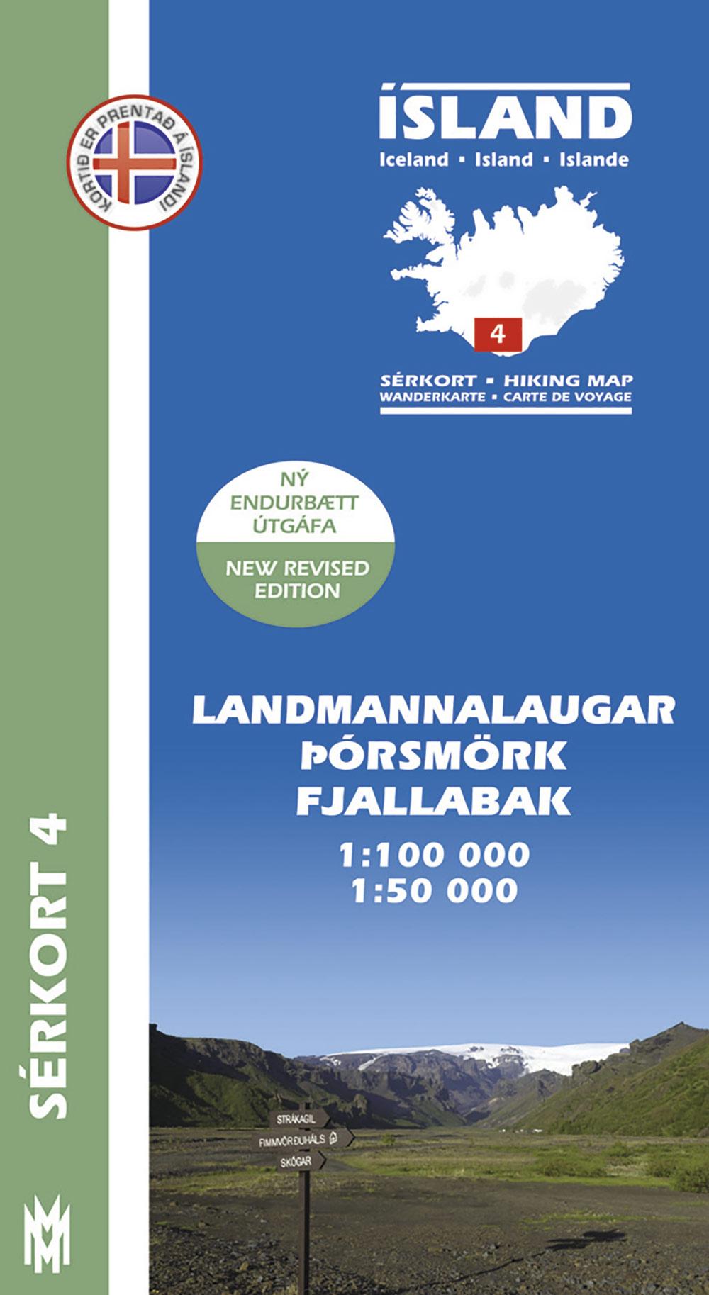 Sérkort 4:  Landmannalaugar  –  Þórsmörk – Fjallabak