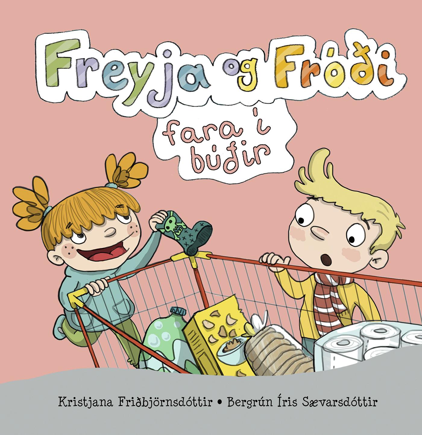 Freyja og Fróði í sundi