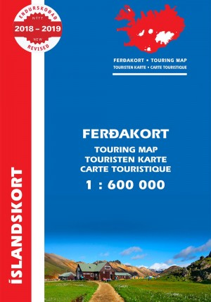 Ferðakort 1:600 000 / Touring Map 2018
