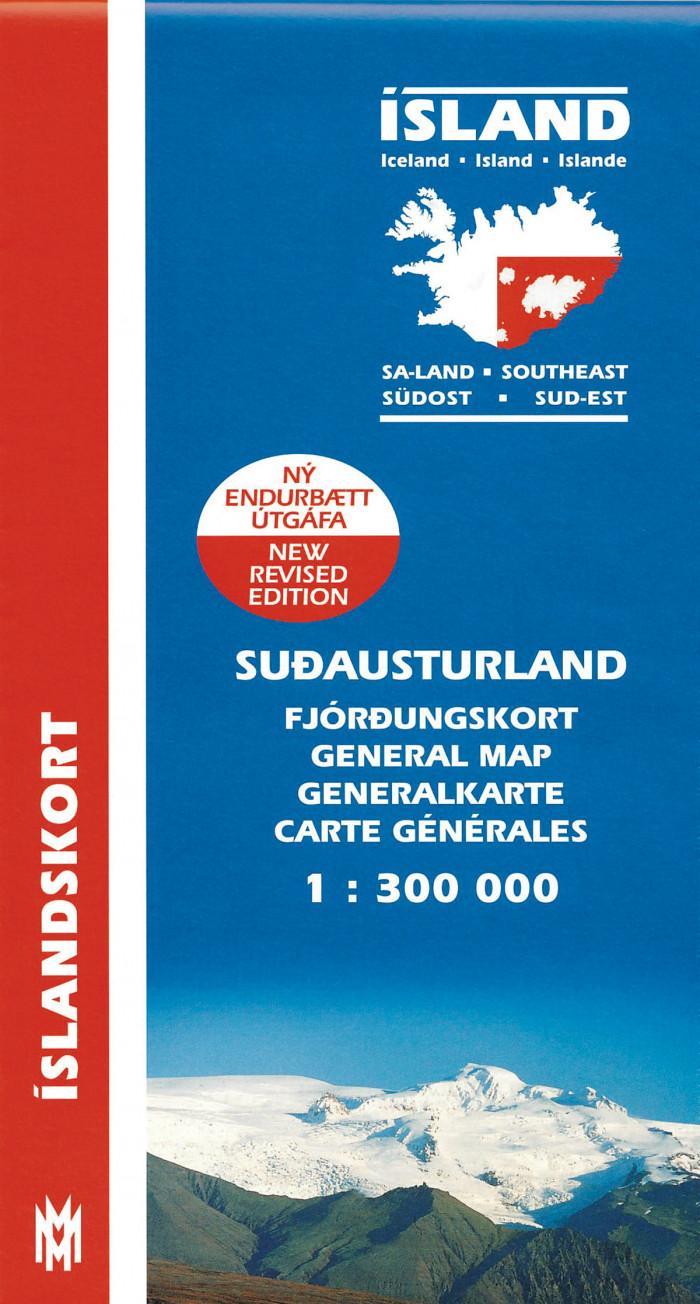Suð-Austurland 1:300 000: Fjórðungskort