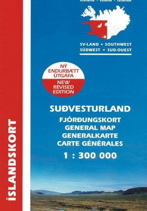 Suð-Vesturland 1:300 000: Fjórðungskort