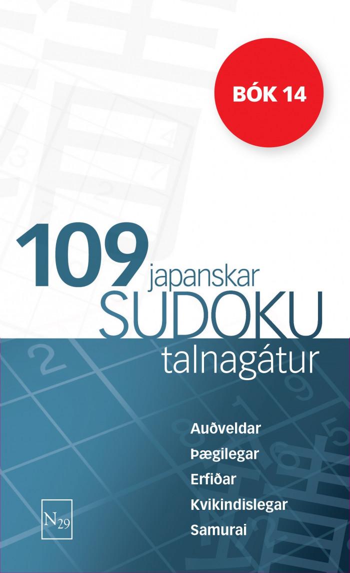 109 Japanskar Sudoku talnagátur – bók 14