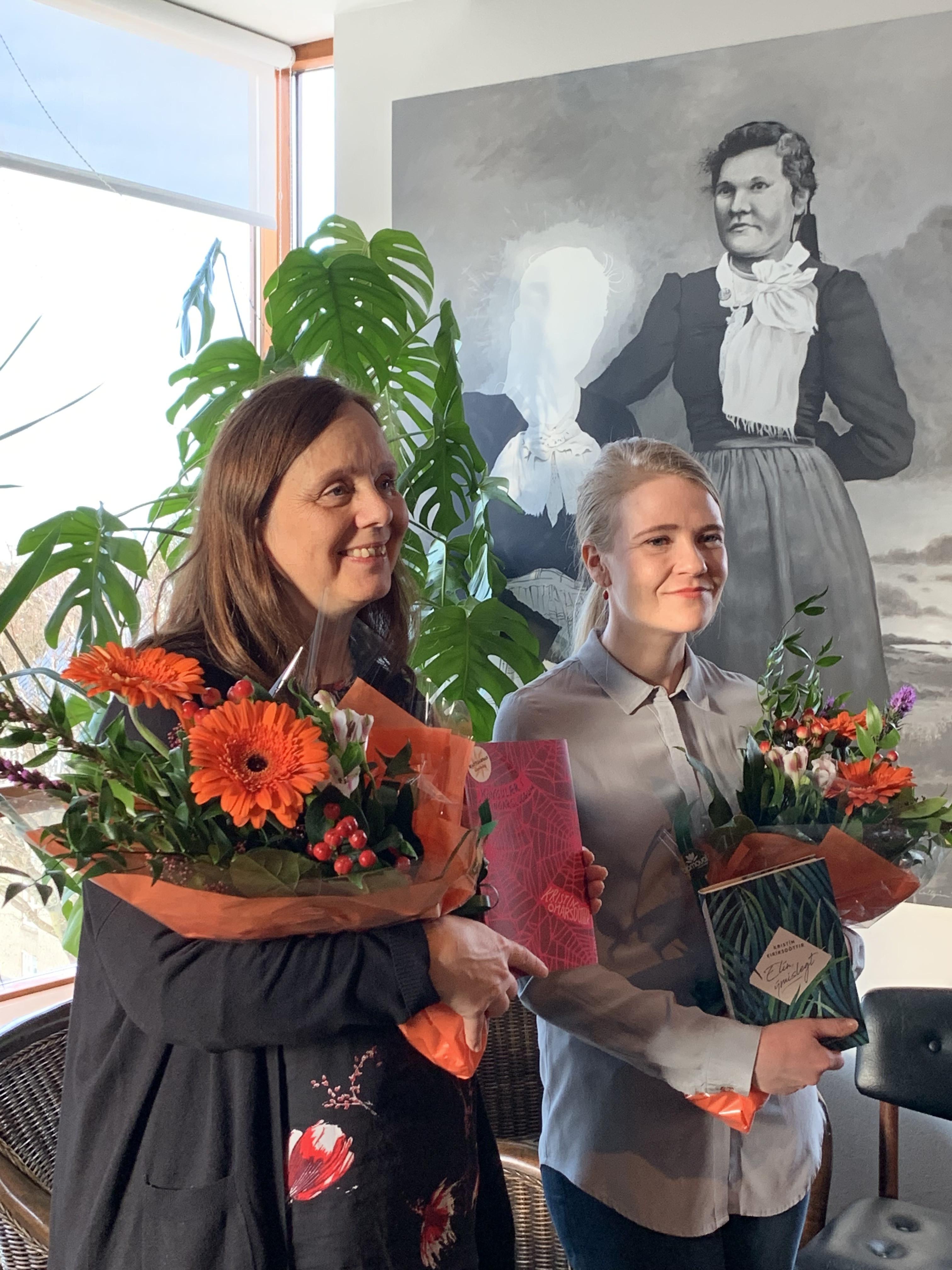 Hólmfríður Matthíasdóttir og Kristín Eiríksdóttir