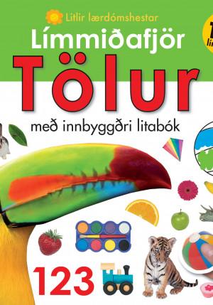 Límmiðafjör: Tölur - með innbyggðri litabók