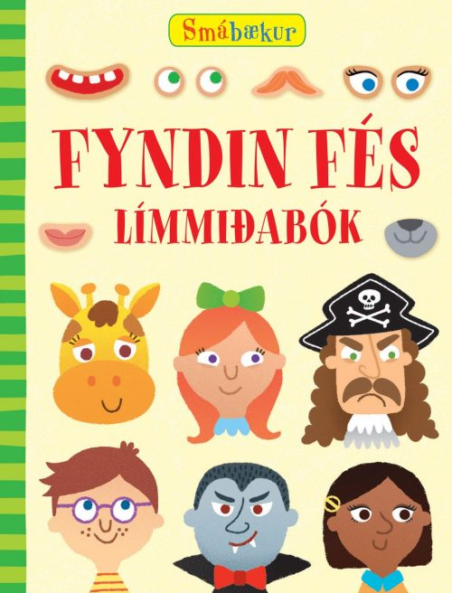 Smábækur - Límmiðabók - Fyndin fés