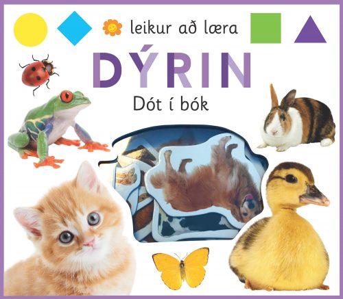 Leikur að læra: dýrin - dót i bók