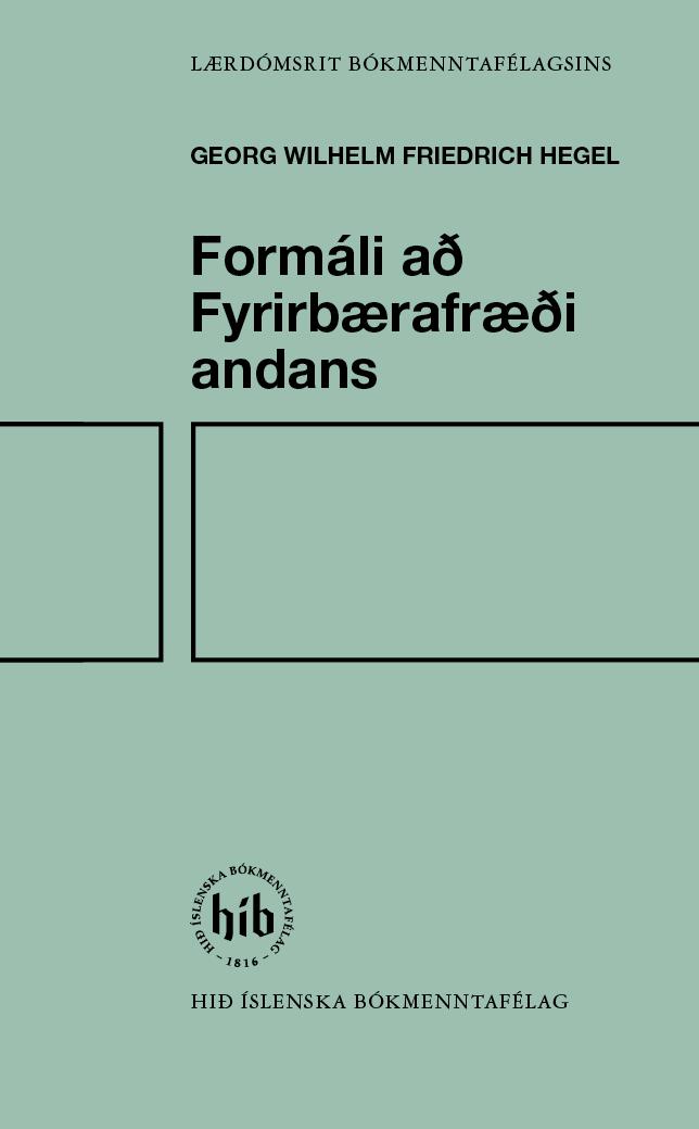 Formáli að Fyrirbærafræði andans