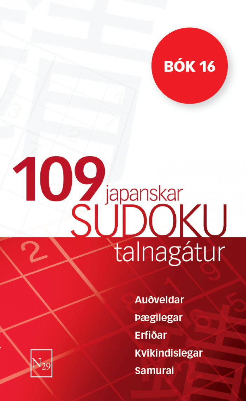 109 Sudoku - bók 16